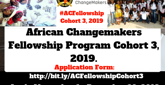 Apply for African ChangeMakers Fellowship Program, Cohort 3, 2019.